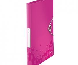 Plastic Box File สีชมพู